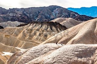 death valley landscape panorama at zabrisie point