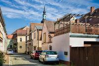 Luebbenau, Germany - 23.05.2019 - street in the old town