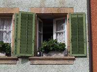 window with wine stock