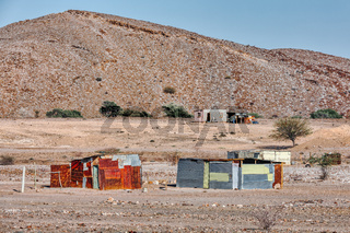 Traditional poor african house, huts, Erongo Namibia