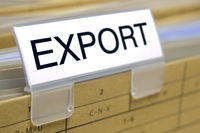 export printed on file folder in office