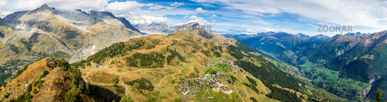 Panorama Riederalp Aletsch Swiss Alps Switzerland
