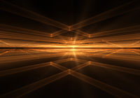 Orange Geometrical Horizon With Rays Of Light