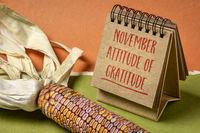 November attitude of gratitude