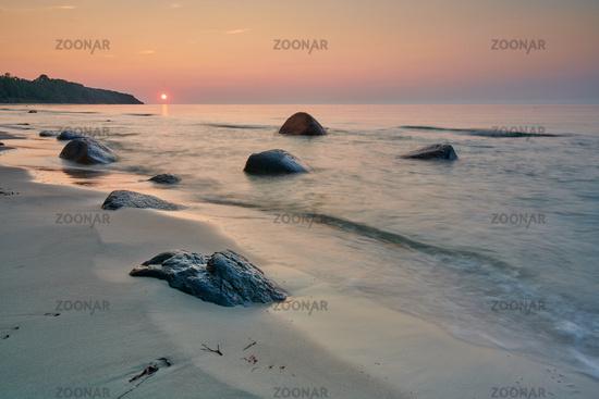 Ruegen Germany beach sunset