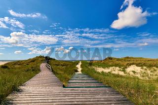 Amrum - Bohlenweg zur Aussichtsdüne und Strand