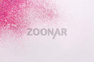 pink glitters on white background