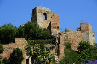 Gibralfaro castle remains Malaga