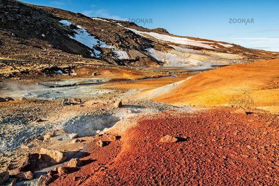 Krysuvik sulphuric area in Iceland