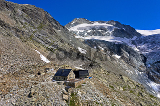 Berghütte Cabane de Moiry, Grimentz, Wallis, Schweiz