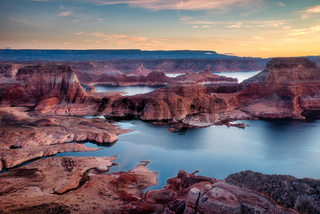 USA Arizona Alstrom Point in sunset