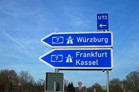 Federal Motorway Exit Würzburg Frankfurt Kassel
