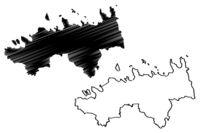 Harju County (Republic of Estonia, Counties of Estonia) map vector illustration, scribble sketch Harjumaa map