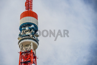Blue sky and Tokyo Tower (in some construction)