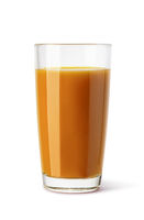 glass of peach juice