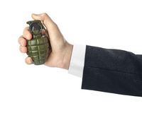 Hand with grenade