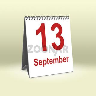 September 13th   13.September