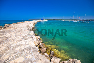 Town of Novigrad Istarski seafront breakwaer sailing destination view