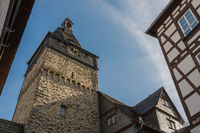 Old Town Bad Camberg with Tower and Half-timbered House, Hesse, Germany