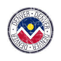 City of Denver, Colorado vector stamp