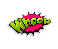 Comic text whop whoop logo sound effects