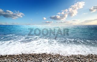 Sea and pebble beach