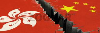 Konflikt zwischen Hongkong und China