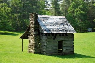 Hütte am Blue Ridge Parkway, North Carolina