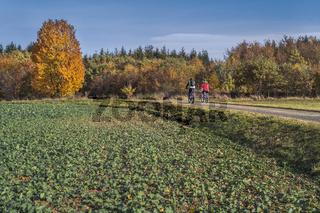 Radtour im Herbst