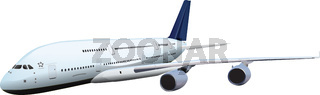 passenger plane vector illustration isolated.
