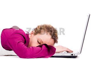 Sleeping on my notebook