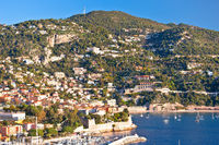 Villefranche sur Mer and French riviera coastline view