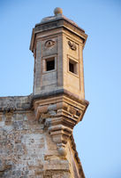 The Guard tower (the Gardjola) of the Singlea bastion. Malta.