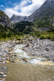 Mountain river in Vanoise national Park valley, French alps