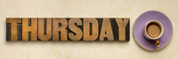 Thursday word typography