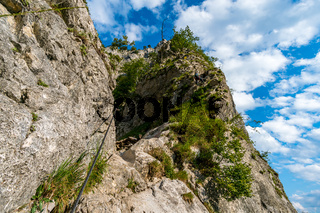 Climbing on the Drachenwand via ferrata