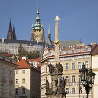 Trinity column in front of St. Vitus Cathedral and Prague Castle, Prague