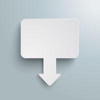 White Rectangle Arrow Marker Board Gray