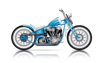 blue custom bobber
