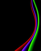 Abstract color lines on black background - vector