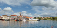 Krk Town on Krk Island at adriatic Sea,Croatia