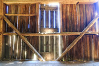 Old Rustic Barn Interior, Sunlight