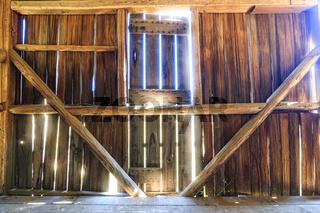 Old Rustic Barn Interior, Sunlight