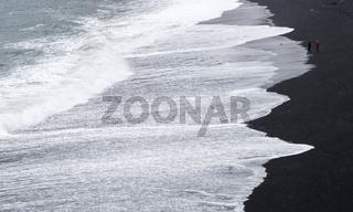 Waves and sea water, Black Beach, VIK, Iceland