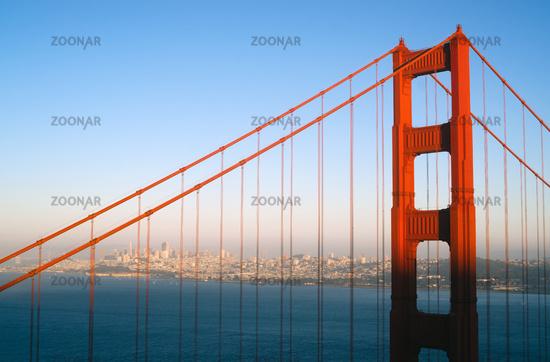 Sunset San Francisco Golden Gate Bridge Pacific Ocean West Coast