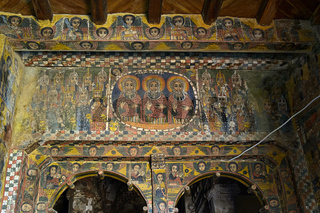 Christliche Kirchenmalerei, Kirche Abreha wa Atsbaha, Gheralta Region, Tigray, Äthiopien