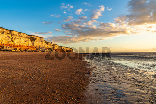 Hunstanton Cliffs in Norfolk, England