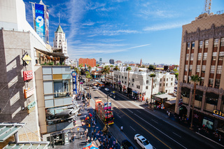 Hollywood Blvd in Los Angeles in USA