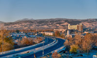 reno nevada city skyline early morning