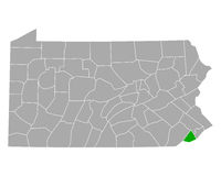 Karte von Delaware in Pennsylvania - Map of Delaware in Pennsylvania